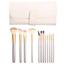 Mixdair 12Pcs/Set Makeup Brush Face Foundation Concealer Portable Soft Synthetic Professional Eyeshadow Set with Bag