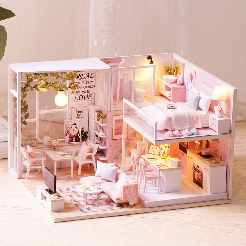 DIY Hut Handmade Creative Toy Small House Villa Assembled Model Birthday Gift GIRL'S For Making
