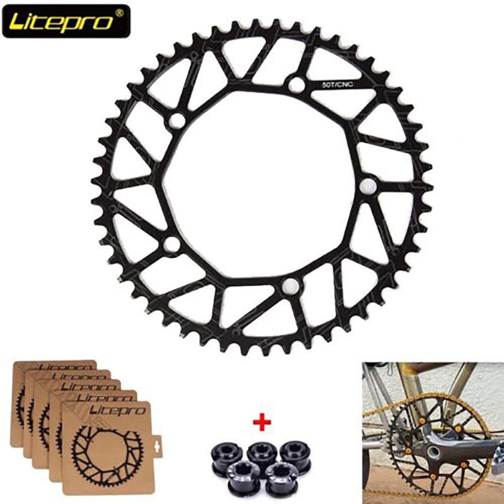 Litepro 130bcd 50-58T Hollow Chainring Folding//Road Bike Narrow Wide Chainwheel