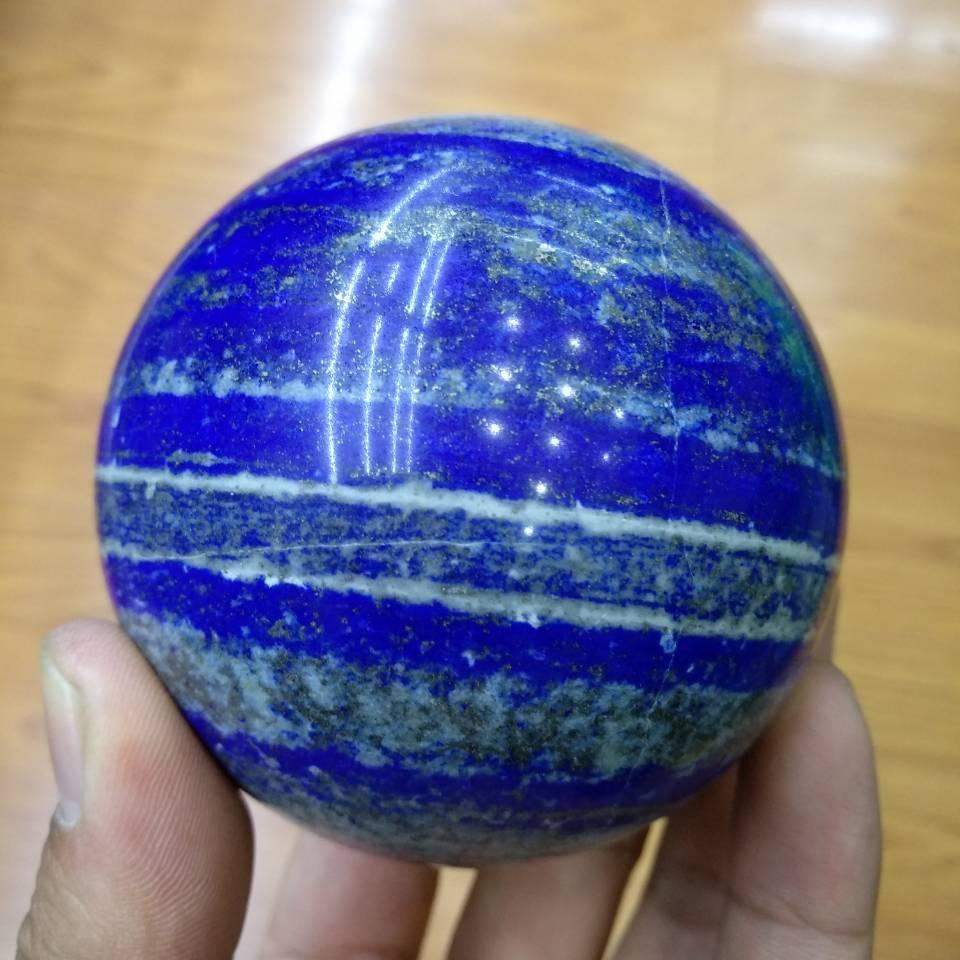 75mm Natural Lapis Lazuli Crystal Sphere Ball Handmade @Afghanistan