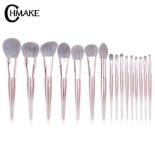 CHMAKE 16pcs acrylic Rose Gold Makeup brushes set Professional Beauty Make up brush Foundation Powder Blusher Goat hair