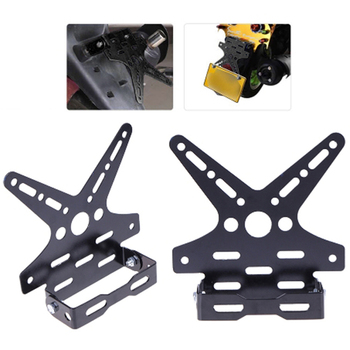 Electroplate Aluminum Alloy Motorcycle Rear License Plate Frame Motorbike Scooter Number Holder 5 Colors