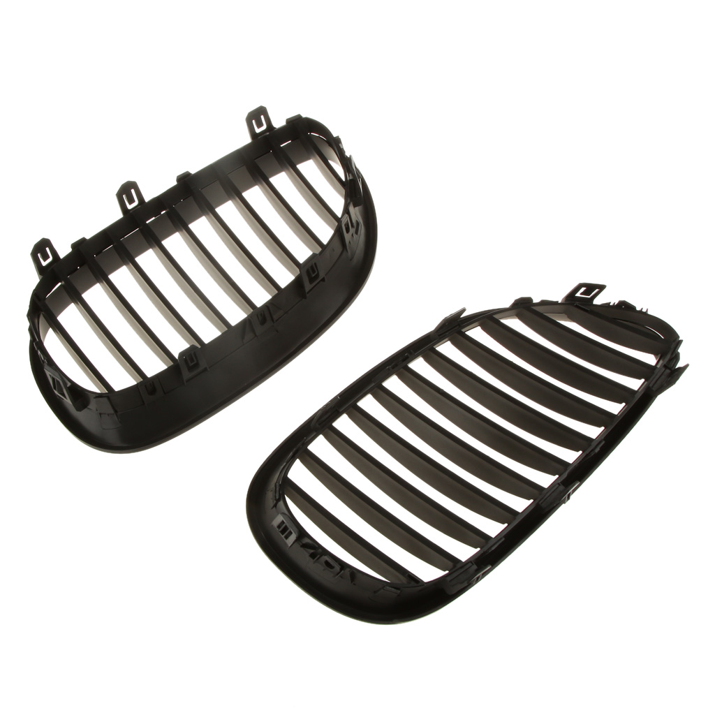 Replacement Front Car Grille for <font><b>BMW</b></font> <font><b>E60</b></font> E61 <font><b>5</b></font> <font><b>Series</b></font> M5 03-09 Pack of 2 image