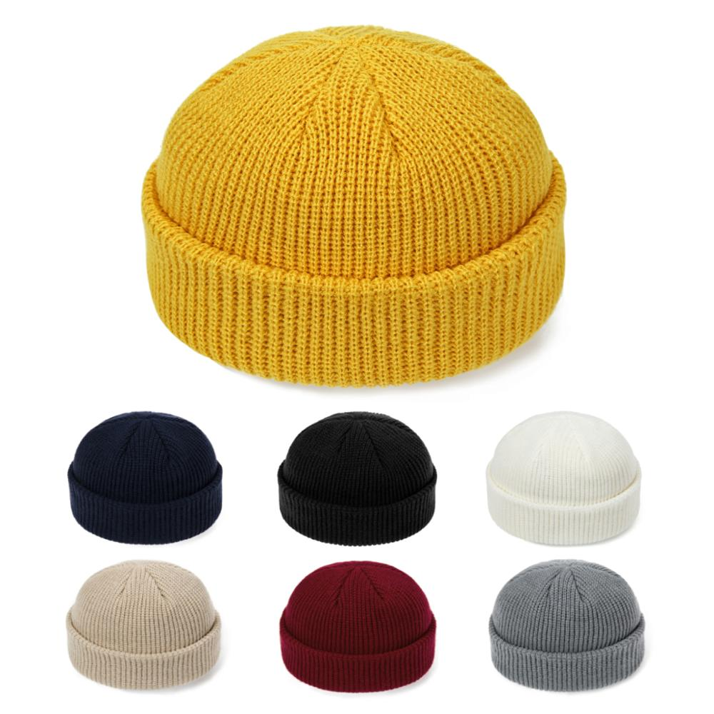 Autumn Winter Hat Beanie-Hat Knit Loose Outdoor Unisex Fashion Hip-Hop Casual Short Solid