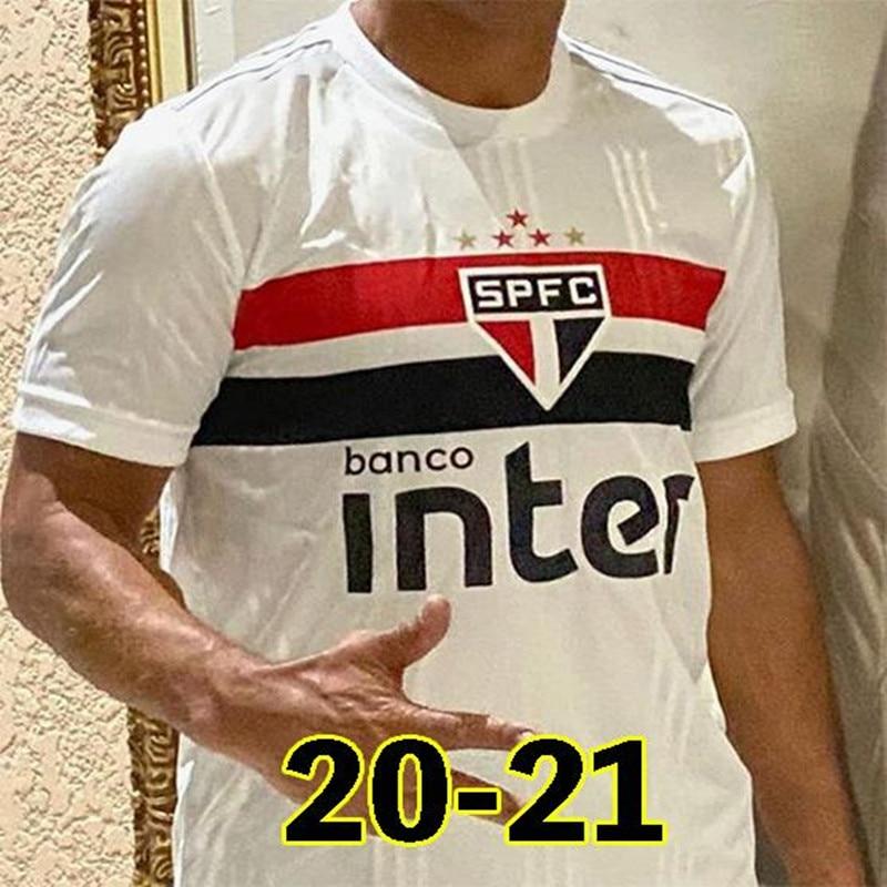 NEW 2020 Sao Paulo Soccer Jersey Home Souza Helinho Peres Everton Hernanes Shirt 2020 2021 Camisetas De Futbol Football Uniform