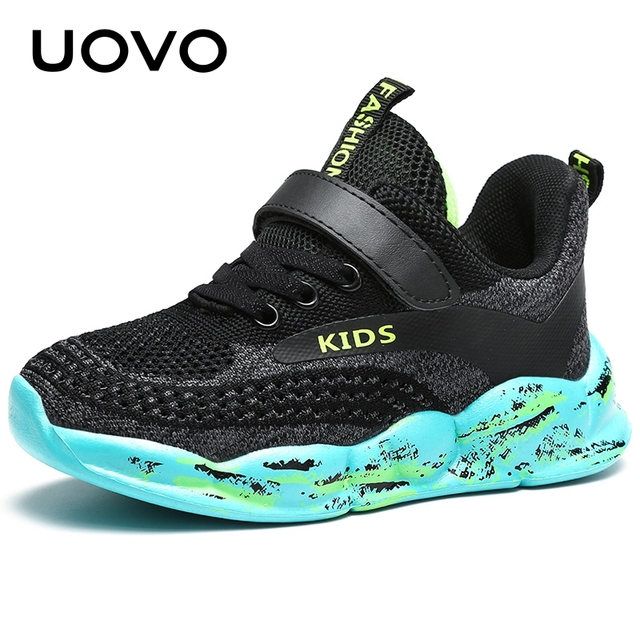 UOVO Kids Running Shoes Boys And Girls Sport Shoes 2020 Autumn Breathable Mesh Shoes Fashion Children Sneakers #28-39