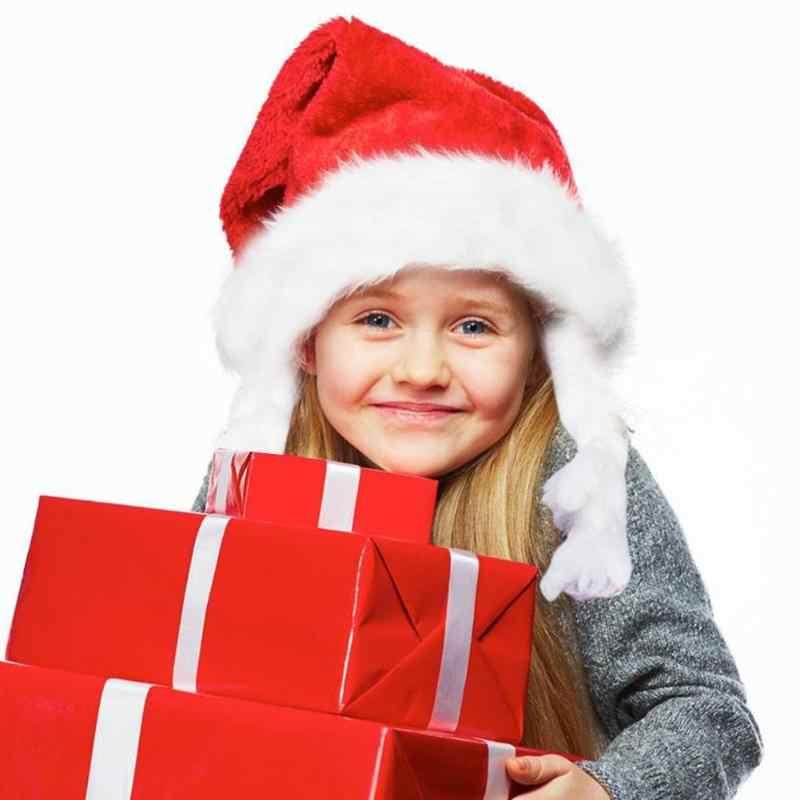 1/12 sztuk czapki bożonarodzeniowe święty mikołaj kapelusz dekoracja festiwalowa rekwizyty zaopatrzenie firm dla dzieci dzieci dla dzieci bożonarodzeniowe z kapturem