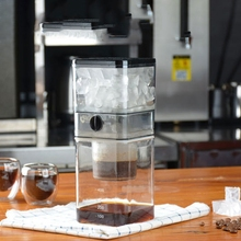 New Hot Household Iced Coffee Pot Korean Style Glass Ice Coffee Machine Small Drip Type Cold Extraction Coffee Machine glass ice drip coffee pot ice cold brew coffee maker reusable glass filter tools 800ml espresso coffee drip pot for 5 people