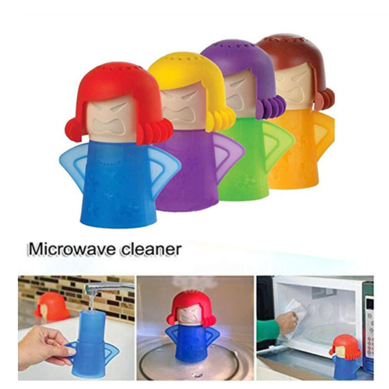 Creative Angry Mother Shaped Microwave Cleaner With Natural Steam Power to Remove Oil and Dirt 1