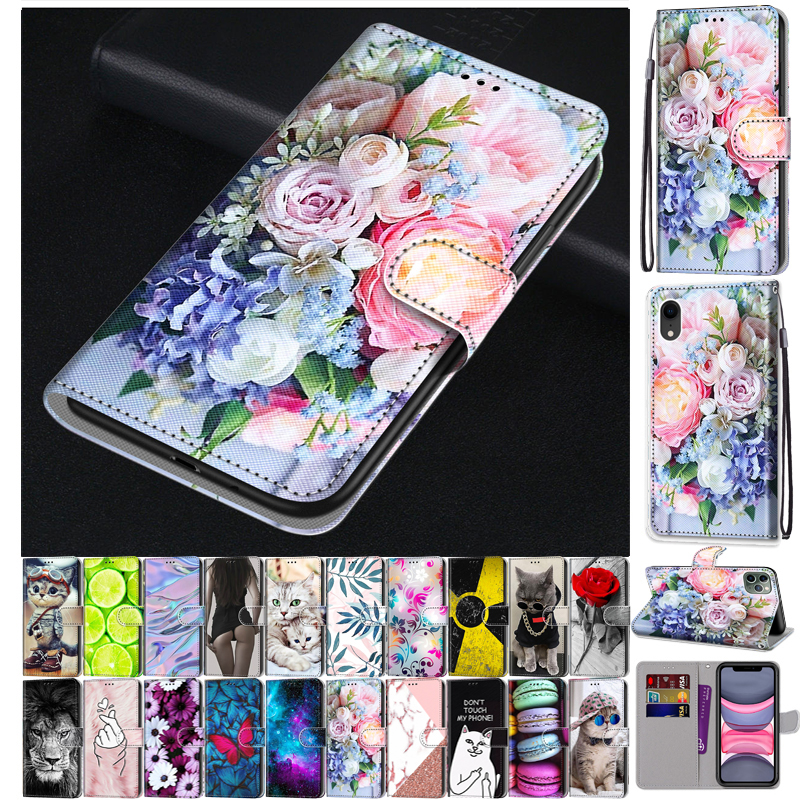 Leather Flip Case For Samsung Galaxy A01 Core A10 A42 A41 A40 A20e A20s A21 A21s A20 A30 A31 Phone Case Wallet Book Cute Cover