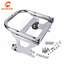 OUMURS Motorcycle Luggage Rack Detachable 2 up Tour Pak Pack Mount For Harley Touring Electra Street Road Glide Road King 97 08