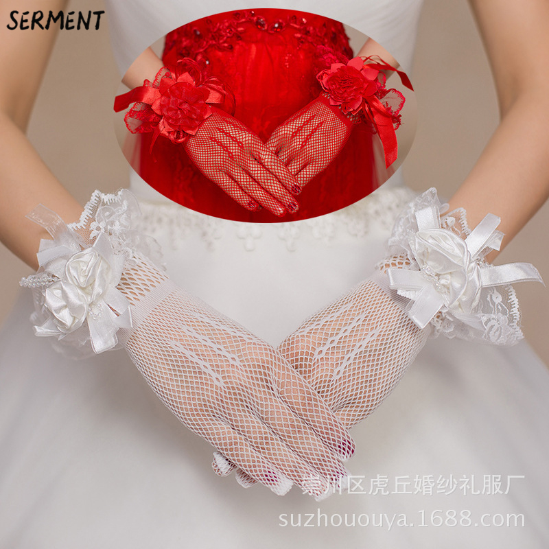 Купить с кэшбэком Wedding Gloves Have Long Lace Wedding Bridal Gloves Factory Direct Wedding Gloves White