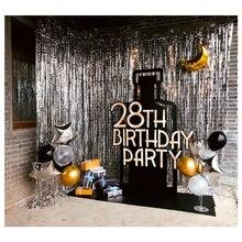 Fondo de fiesta boda 2M 3M cortina de oropel dorada decoración de boda cortinas de Fotos decoración de cumpleaños cortinas para fiestas