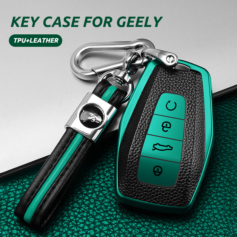 TPU PU Car Remote Key Cover Case Shell For Geely Coolray Atlas Boyue NL3 Emgrand X7 EX7 SUV GT GC9 Borui Key Protection Holder