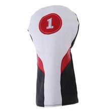 ПУ гольф деревянная крышка головки с № Tag1, 3,5 Гольф клуб головной убор протектор для гольф Драйвер файрвэй гибридный Белый аксессуары для гольфа