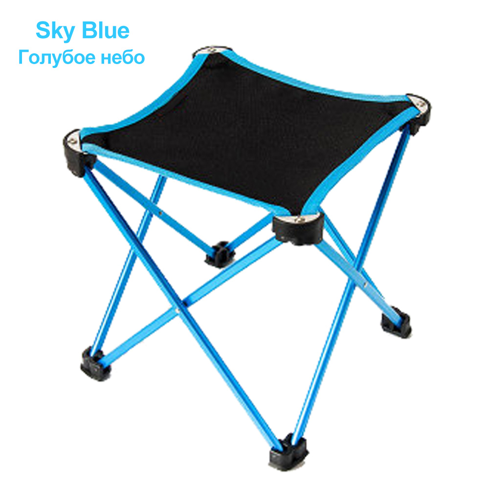 HooRu Foldable Lightweight Stool Traveling Fishing Camping Folding Stool Backpacking Outdoor Portable chair with Carry Bag