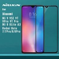 Dla Xiao mi mi 9 Pro 9T Pro 9 8 SE Lite A3 szkło hartowane Nillkin 2.5D pełna osłona ekranu dla czerwonego mi uwaga 8T 8 7 Pro K30 w Etui do ekranu telefonu od Telefony komórkowe i telekomunikacja na
