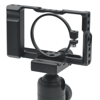 DSLR Camera Cage with Arri Locating Hole 4/1 8/3 Threads Hole for SONY RX100 VI RX100 M6