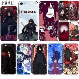 EWAU Madara Uchiha Naruto Soft Silicone phone case for iphone 12 Mini X XR XS 11 Pro Max SE 2020 5 5s SE 6 6s 7 8 plus