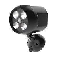 8W 500LM Motion Sensor LED IP65 Wasserdichte Outdoor Lichter Batterie Betrieben Sicherheit Lichter für Wand Garten Einfahrt Beleuchtung-in Outdoor-Wandlampen aus Licht & Beleuchtung bei