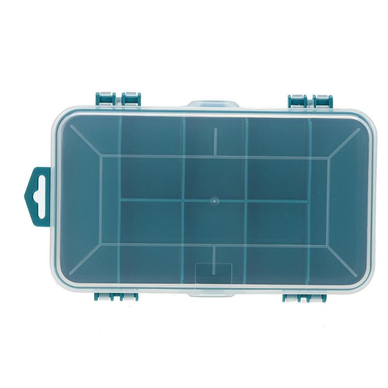 Plastic Tool Box Case Double-side Green Small Components Tool Storage Box
