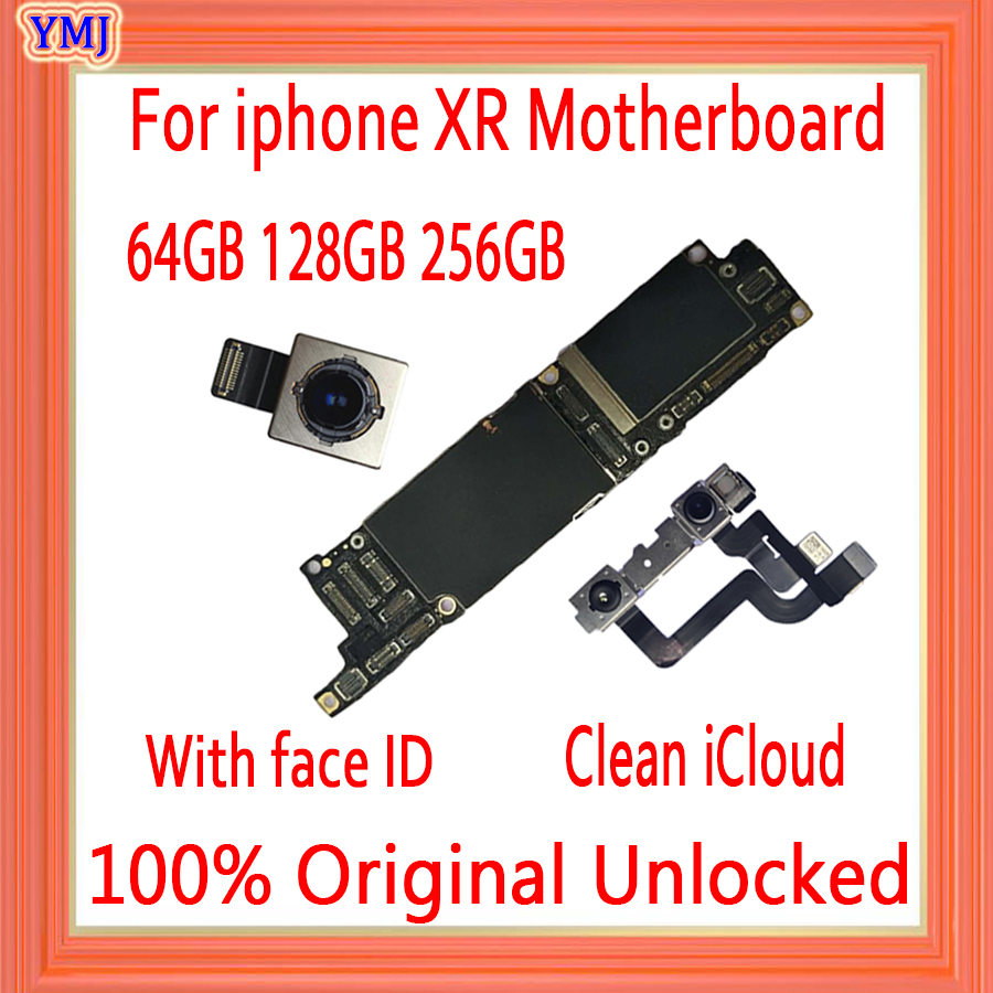 Factory unlocked for iPhone XR motherboard with without Face ID,Free iCloud for iphone XR Mainboard with IOS System Logic board