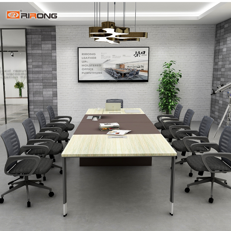 Industry Small Rectangle Office Design Furniture Wooden Office Conference Meeting Table Desk