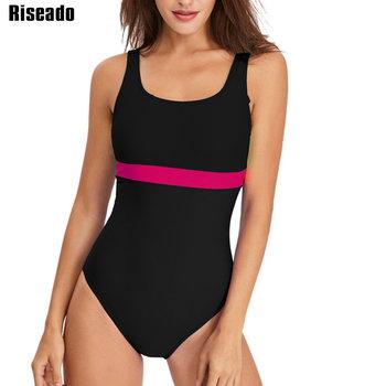 Riseado Sport jednoczęściowy strój kąpielowy kobiety nowy 2021 konkurs stroje kąpielowe Patchwork wyścigi strój kąpielowy dla kobiet u-back stroje kąpielowe tanie i dobre opinie NYLON spandex WOMEN Pasuje prawda na wymiar weź swój normalny rozmiar A0082 Sport Swimwear U-back Swimsuits 82 Nylon 18 Spandex