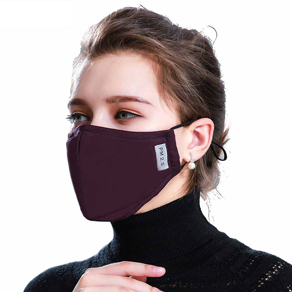 1Pcs Fashion Mask Dust Anti Pollution PM2.5 Activated Carbon Filter Insert Washed Reusable Pollen Cotton Mouth Mask