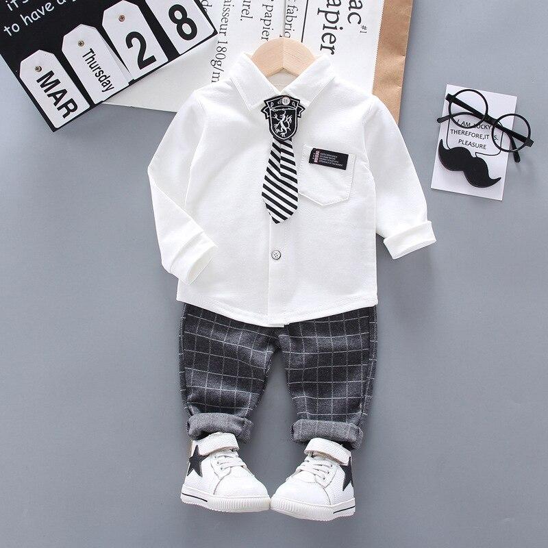 Новинка весенне осенняя одежда для маленьких мальчиков костюмы