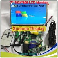 """Elektronik Bileşenleri ve Malzemeleri'ten LCD Modülleri'de 7 """"1024*600 LCD modül ekran monitör ekranı + HDMI/VGA/2AV kurulu + dayanıklı dokunmatik panel w/USB denetleyici ahududu Pi için"""
