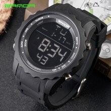 цена SANDA Mens Sports Watches Men Famous Brand Luxury Military Army Watch Digital LED Electronic Waterproof Male Wristwatches 369 онлайн в 2017 году