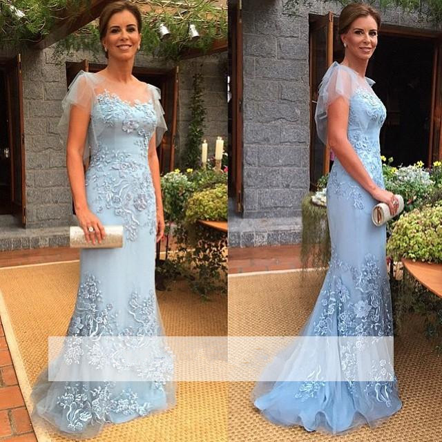 Plus Size Mother Of The Bride Dresses Mermaid Tulle Appliques Lace Groom Mother Dresses For Weddings