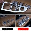 2 estilos interruptor de elevador janela original para g11 g12 lhd bmw série 7 2016-2019 botão da porta interna painel capa quadro adesivos