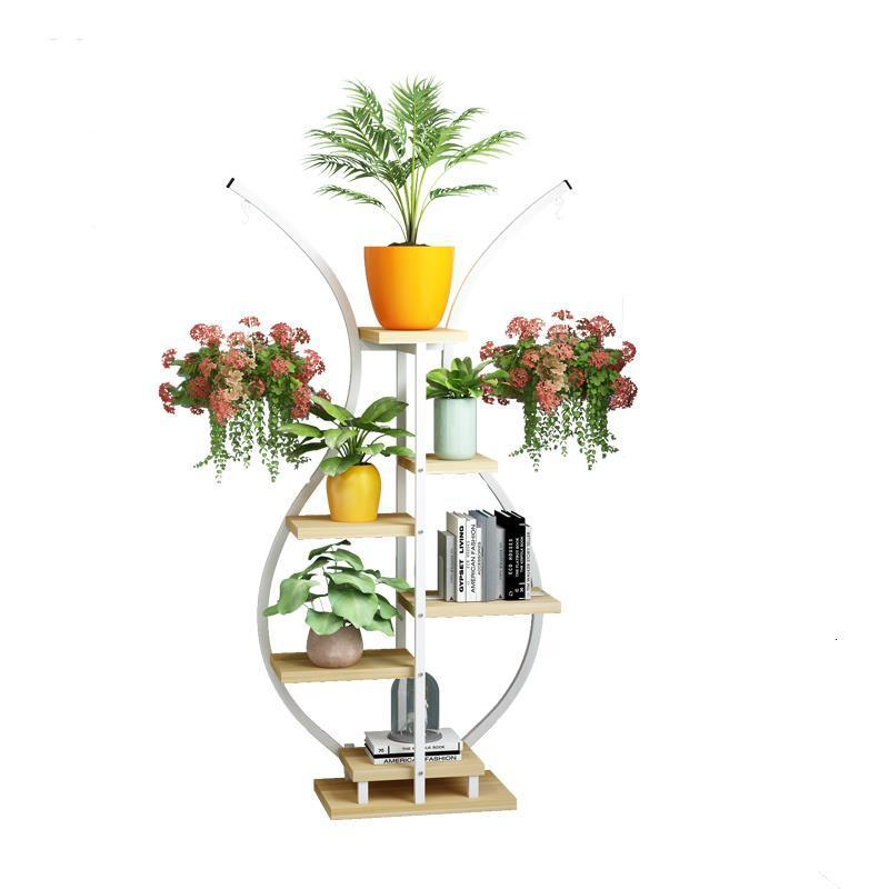 Mueble Varanda Para Wood For Estanteria Plantas Plantenrekken Balcony Outdoor Flower Stand Rack Stojak Na Kwiaty Plant Shelf