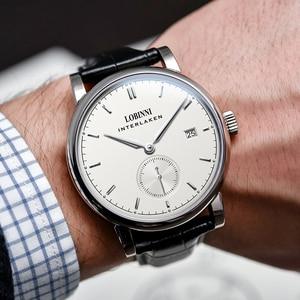 Image 5 - Suisse Montre 2019 marque de luxe amoureux Montre bracelet saphir Vintage Montre en cuir Montre Couple Montre de noël cadeau hommes femmes
