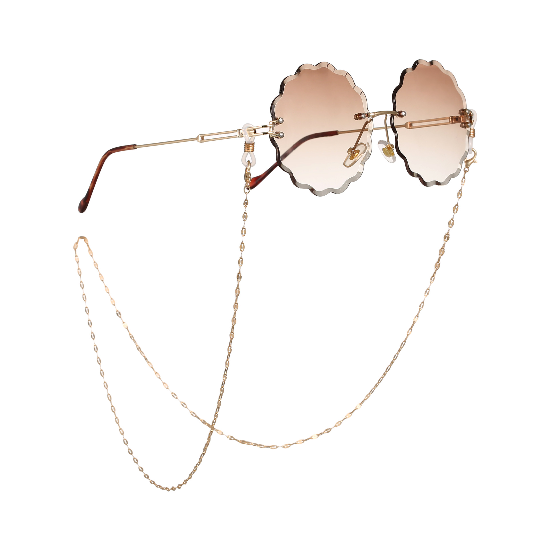 2019 New Fashion Gold Color Copper Glasses Chain For Women Metal Sunglasses Cords Beaded Eyeglass Glasses Accessories