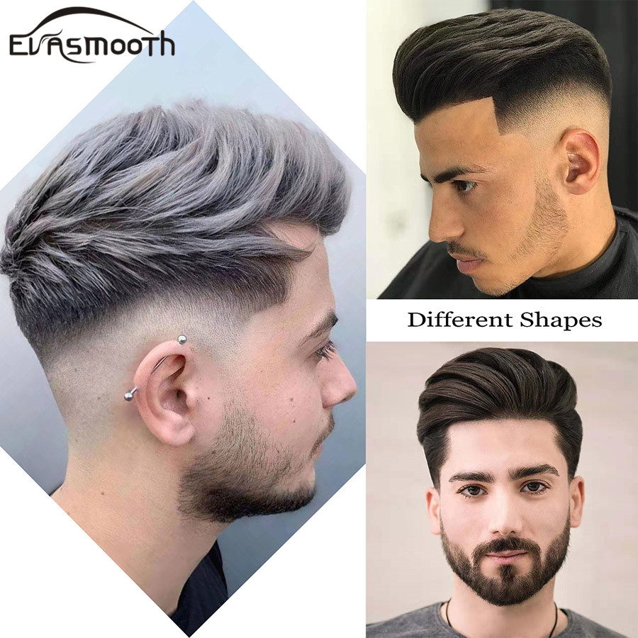 2020 Fashion Men Toupee Real Natural Human Hair Wig Cut Hair Topper Male Wig Indian Hair System Pu Lace Front Wig Hair Extension Toupees Aliexpress