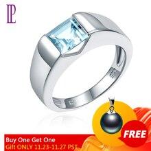 LP טופז נסיכה לחתוך 1.34 קראט נשים של טבעת מוצק כסף 925 טבעי חן טבעת תכשיטי בסדר anillos פלטה 925 para mujer