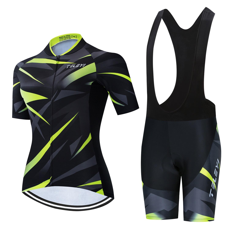 RCC SKY 2020 Pro Team Cycling Jersey Set Women MTB Cycling Clothing Anti-UV Bicycle Wear Short Sleeve Bike Clothes Uniforme