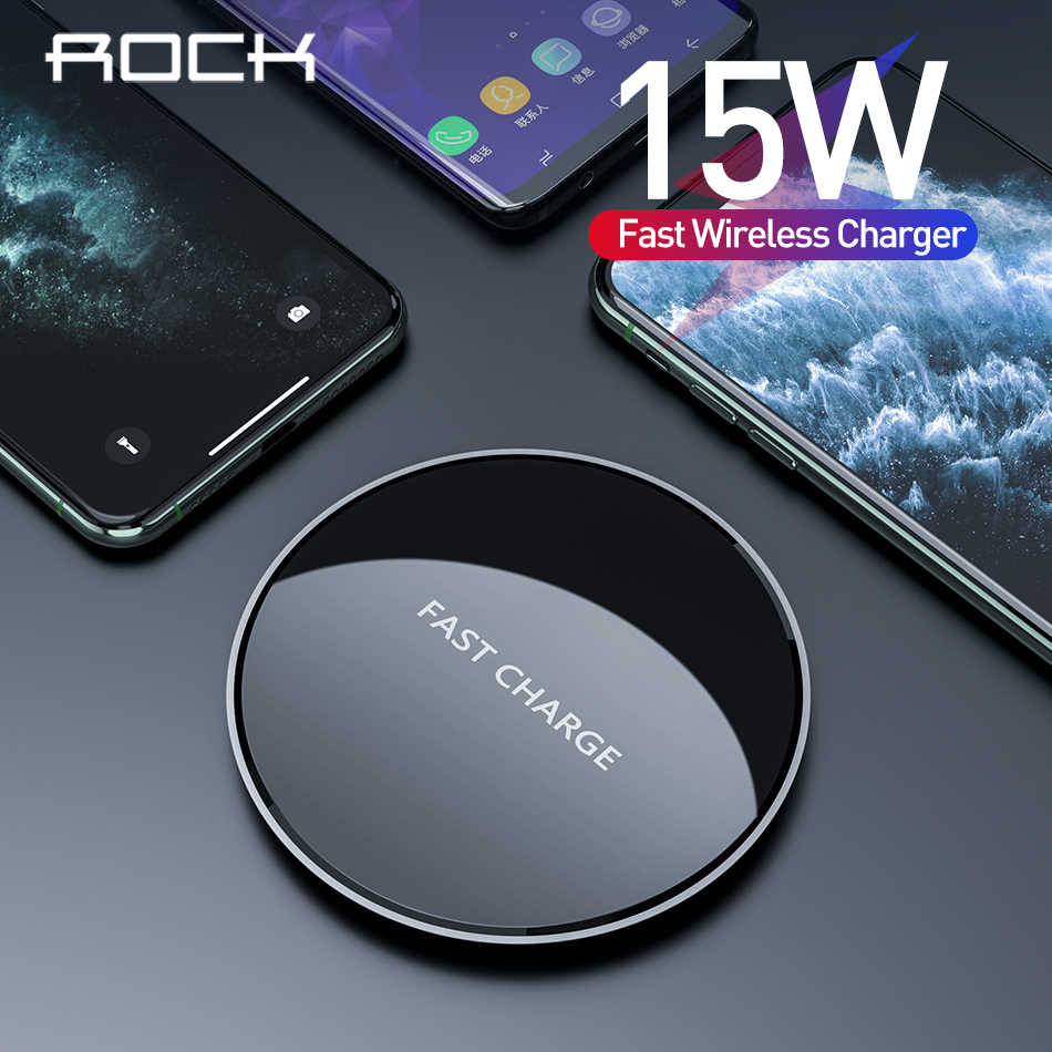 Rock Usb C Fast 15w Wireless Charger For Xiaomi Mi 9 Samsung S10 S9 Qi 10w Quick Charge For Iphone 11 Xs Xr X 8 Wireless Chargers Aliexpress