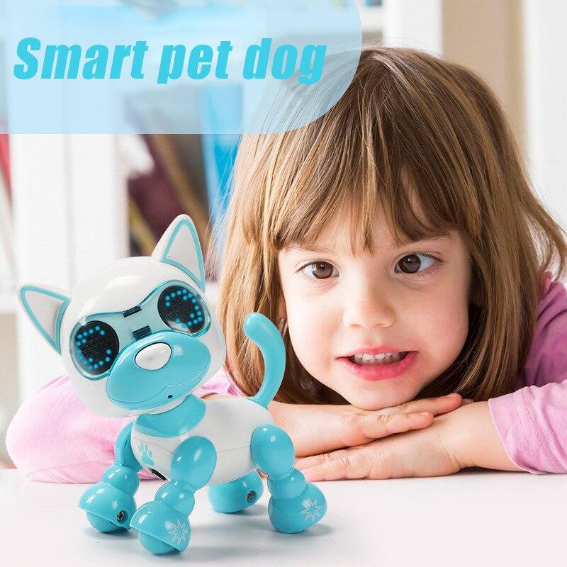 4 Function Robot Dog Electronic Toys Smart Pet Robot Barking Dog Toy  Mini Little Live Pets Electronic Pet Dog Toys For Children