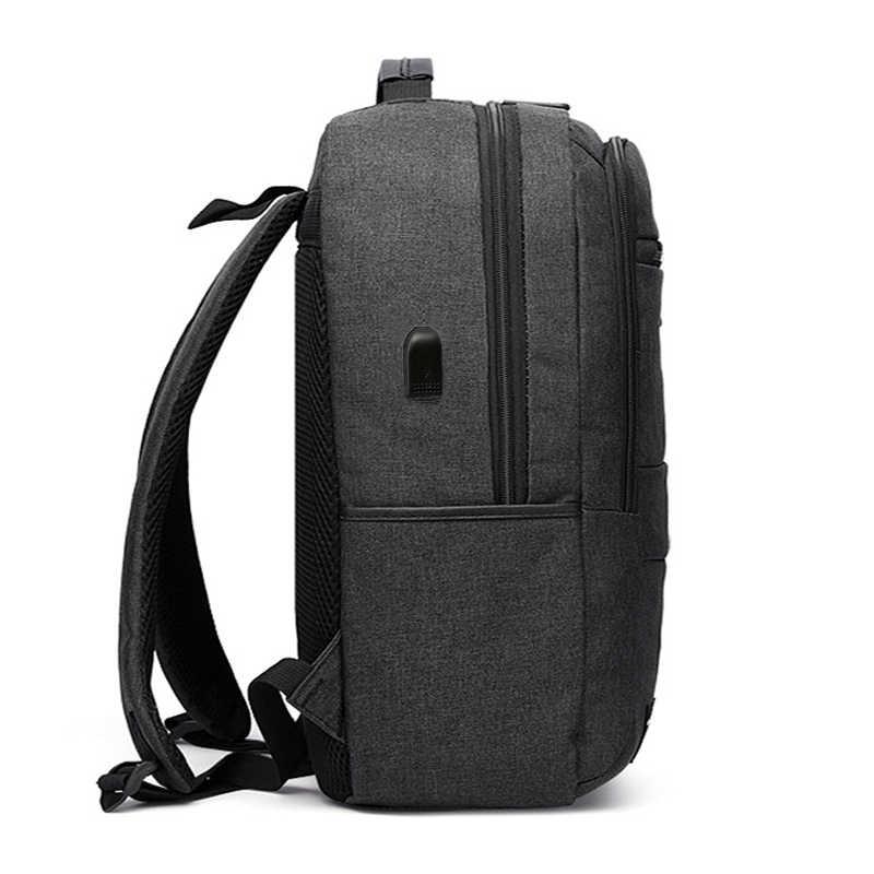 Yeni 15.6 inç erkek dizüstü sırt çantası iş sırt çantası Usb şarj bilgisayar sırt çantaları seyahat büyük kapasiteli naylon erkek çantası