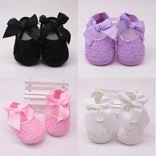 Meninas sapatos recém-nascidos crianças primeiros walkers chinelo bowknot princesa sapatos sola macia não-deslizamento calçados infantis berço sapatos