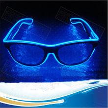 Gafas LED intermitentes EL Wire, fiesta de luces decorativas, regalo clásico, luces LED que brillan, gafas de fiesta, 1 ud.