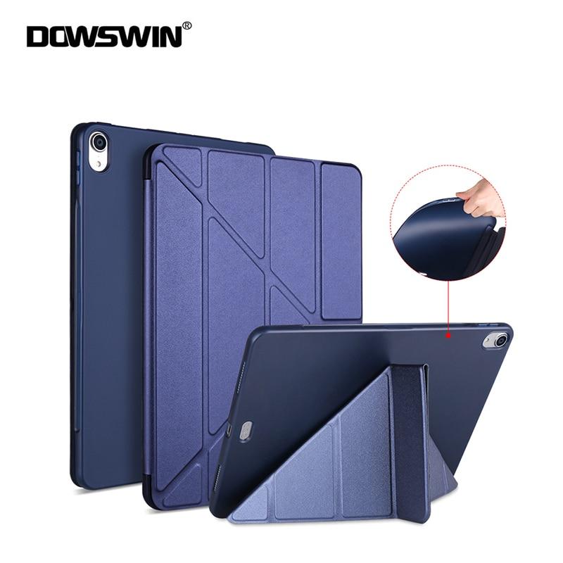 Hot Sale Funda For Ipad Pro 11 2018 Case Ultra Slim Smart PU Leather Multi-Fold Stand + TPU Soft Back Cover For Ipad Pro 11 Case