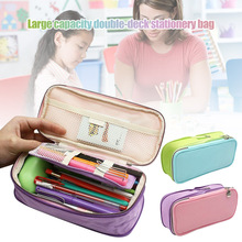 Zipper Pencil Case Pen Bag Pouch School Supplies Large Capacity for Children Students GV99 120 slots pencil case large capacity travel portable colored pencil holder pen zipper bag pouch for artist students stationary