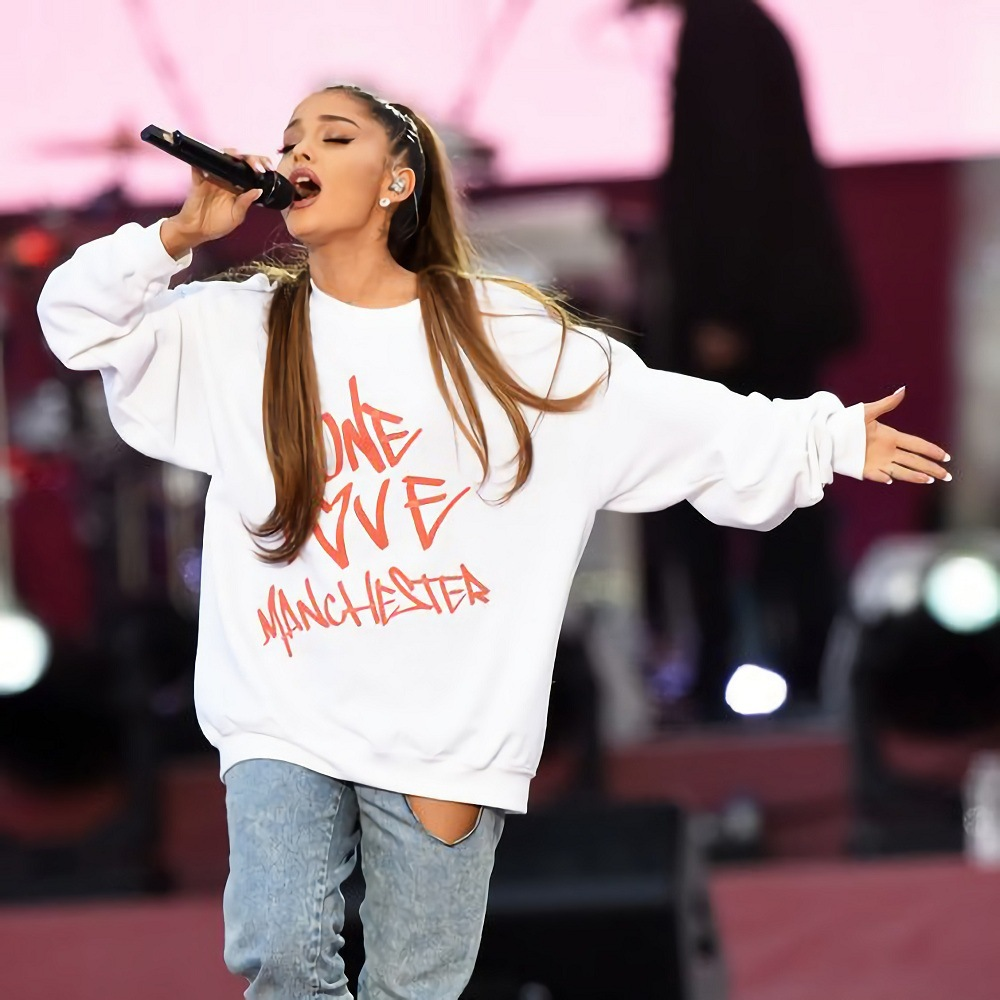 Casual Sweatshirts Pullover Women Hoodies Ariana Grande Harajuku Femme One-Love-Manchester