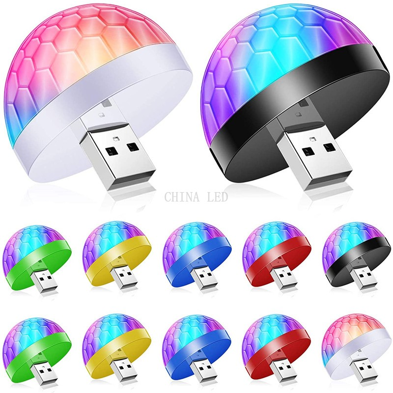 NEW USB LED Disco DJ Stage Car Light Portable Family Party Ball Colorful Light Bar Club Stage Effect Lamp Mobile Phone Lighting