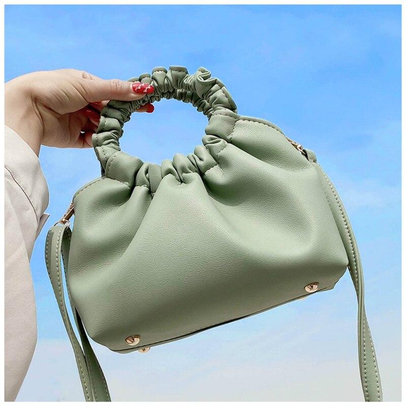 Soft PU Leather Cloud Tote Bag